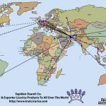Iran Licorice Exporter World Map
